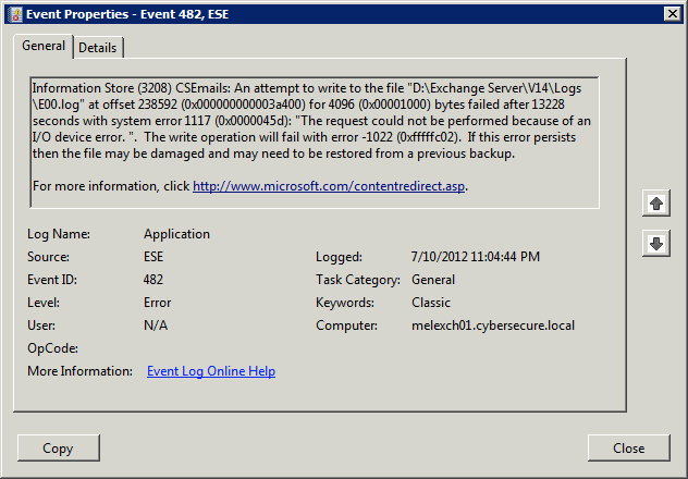How to check event viewer for exchange errors | CyberSecure Support